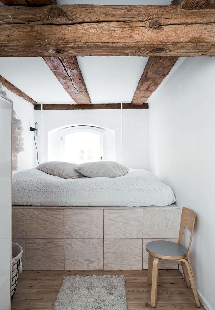 petite chambre rustique poutres en bois apparentes déco cosy