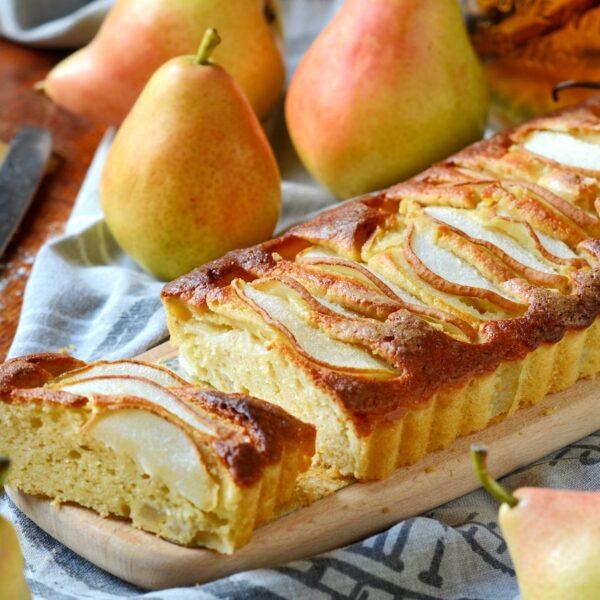 recette cake moelleux aux poires gouter hiver fait maison