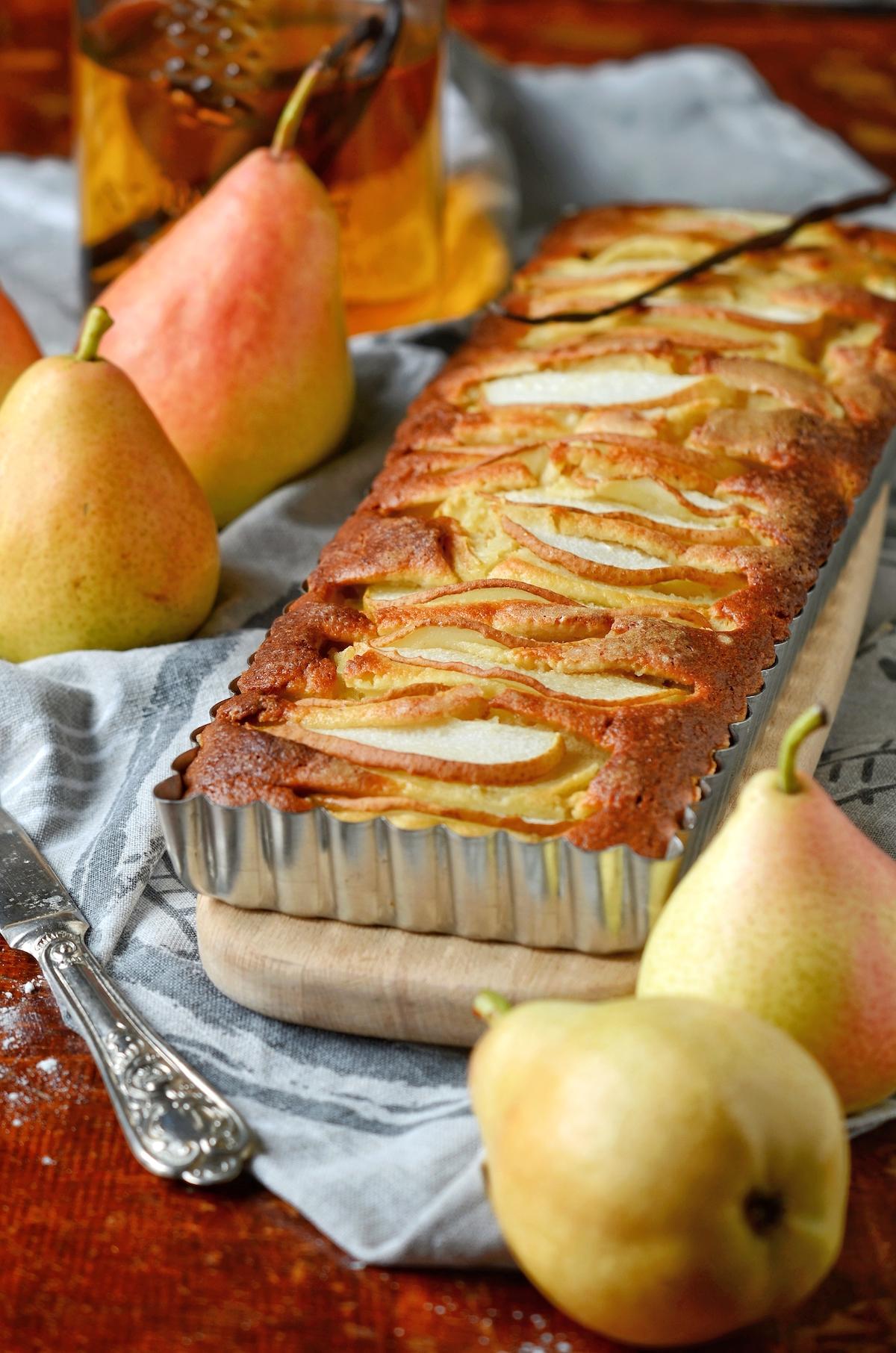 recette facile gouter moelleux aux poires automne - blog maison clem around the corner