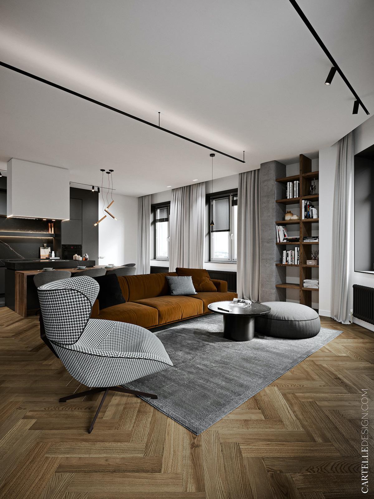 Appartement 3 pièces t3 définition séjour salle à manger cuisine ouverte