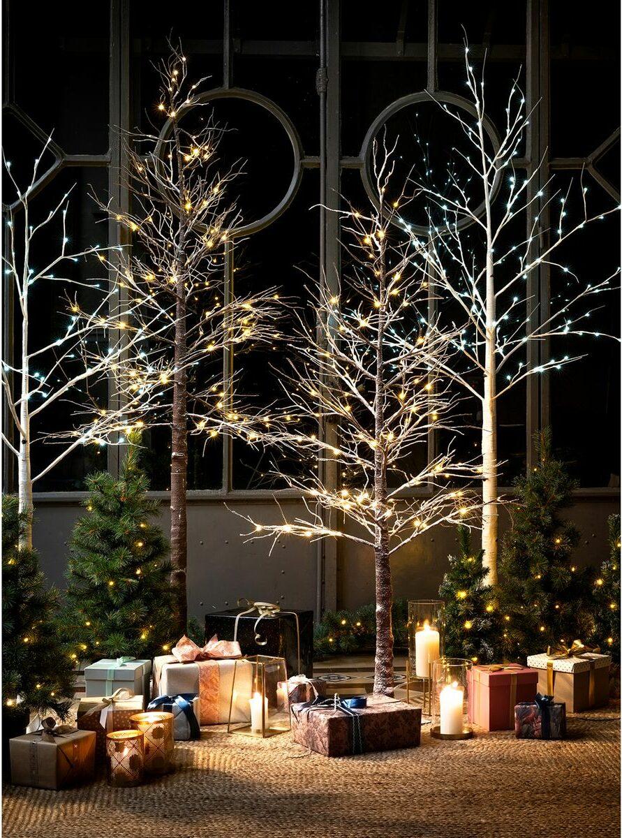 faux arbre artificiel lumineux déco noël nordique minimaliste élégante