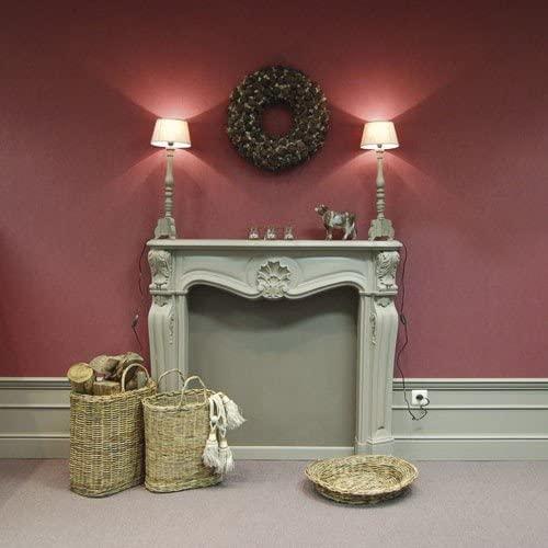 salon tradtionnel décoration gris taupe mur terracotta bordeaux