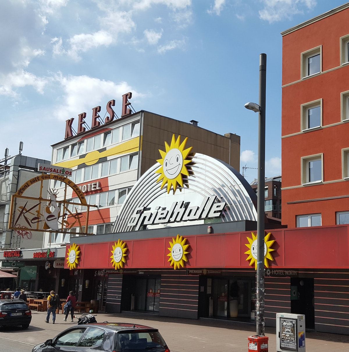 sank pauli allemagne rue boutique restaurant immeuble rouge