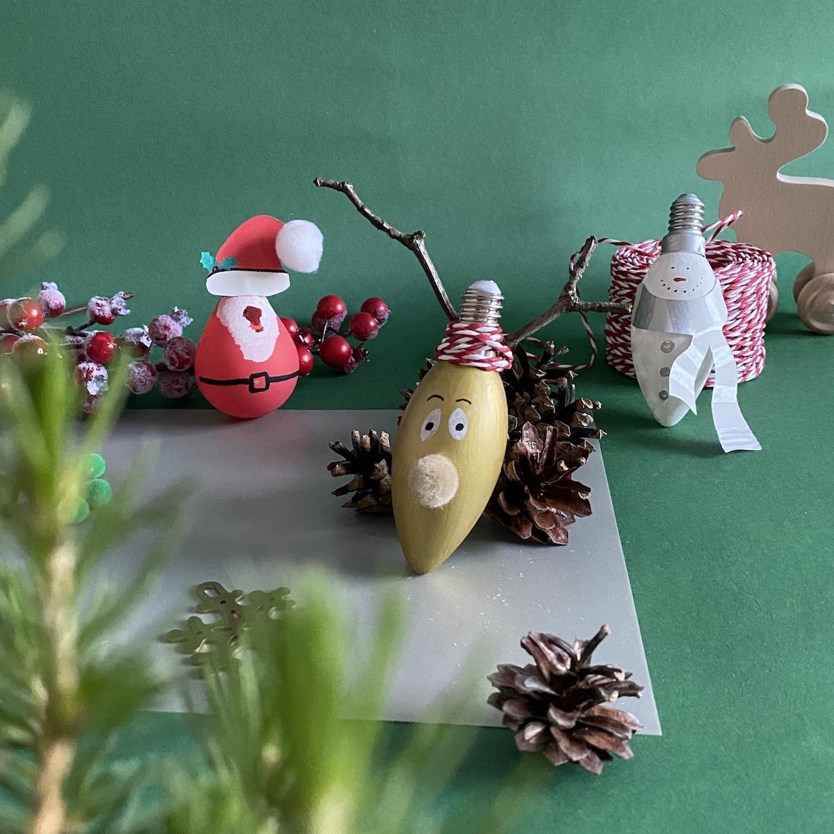 activité manuelle créer soi-même ses décoration de sapin Noël