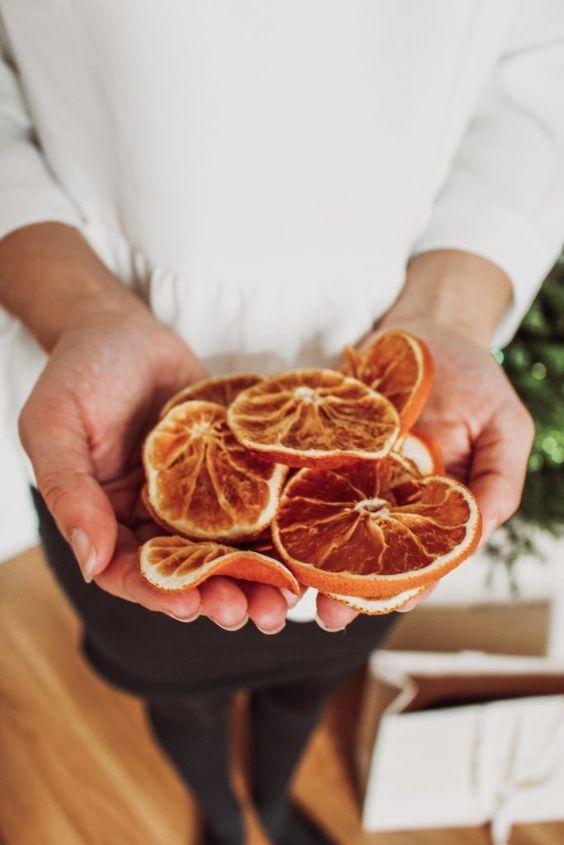 comment faire orange séchée pour décorer sent bon hiver