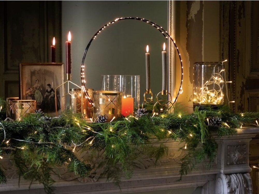 déco de noël élégante pas cher cheminée - blog décoration intérieur - clem around the corner