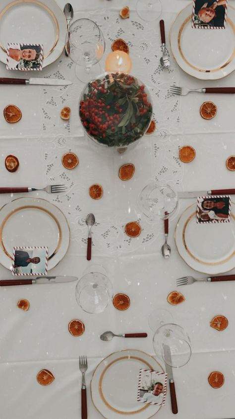 table hiver décoration orange séchée rondelle diy