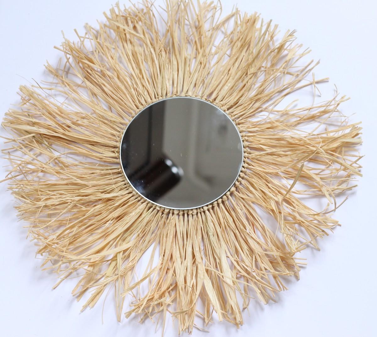 tuto diy miroir en raphia fibre bambou fait-maison
