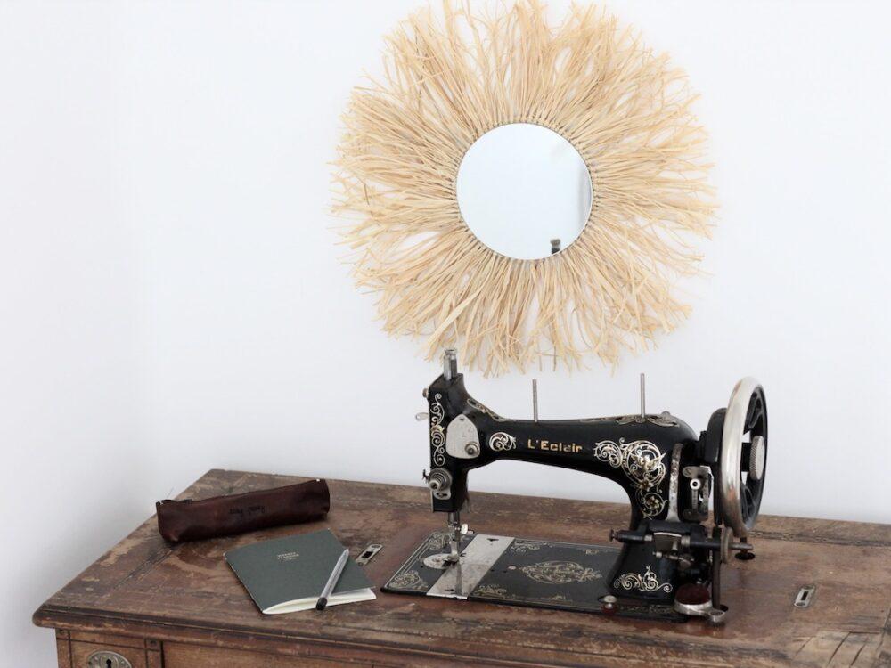 tuto miroir raphia diy - blog création déco - clem around the corner