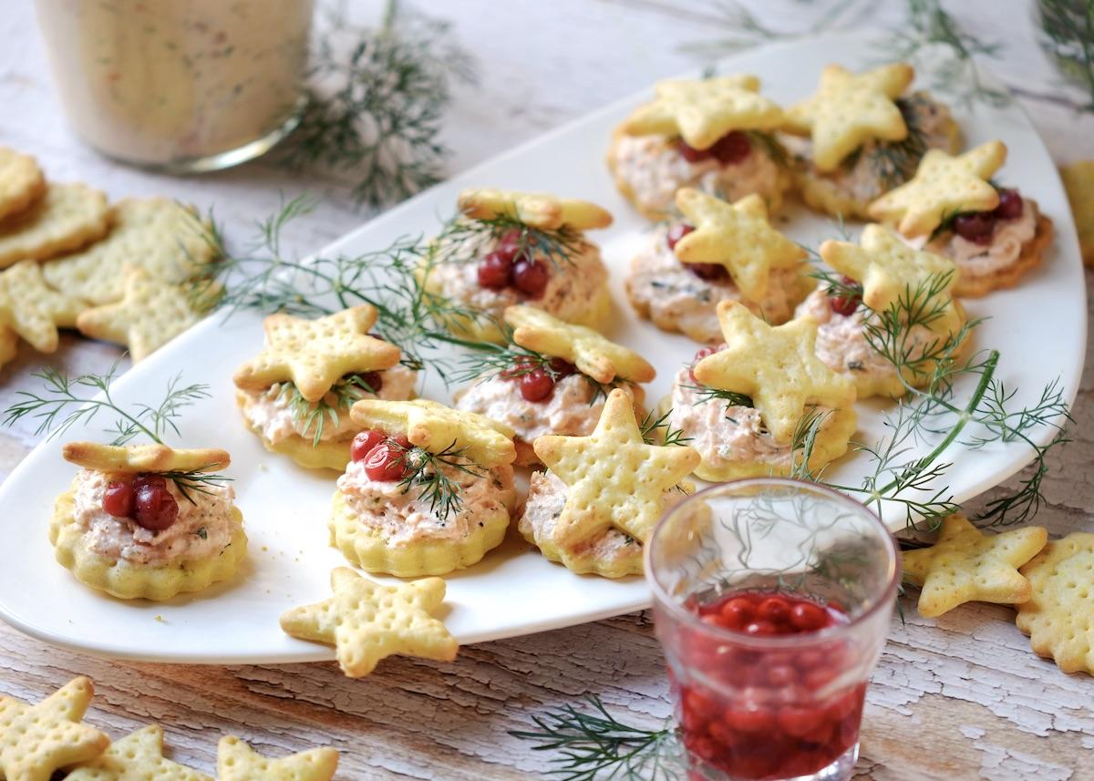 amuse bouche de Noël crackers truite blog cuisine maison clem around the corner