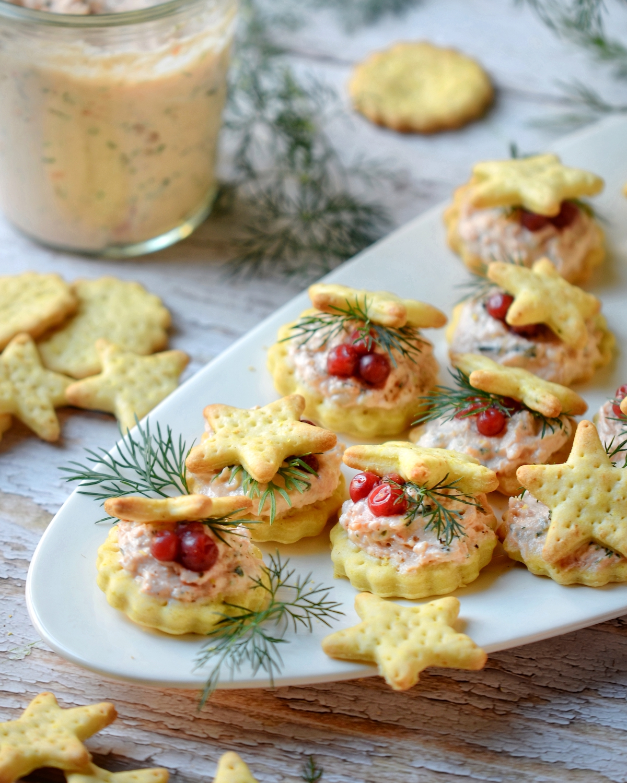 amuse bouche de Noël crème aneth saumon fumé truite recette