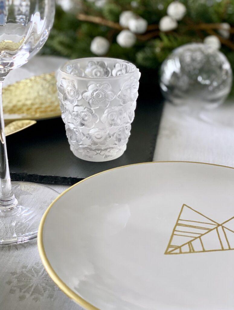 bougeoir cristal table de Noël 2020 Lalique luxe cadeau - blog déco