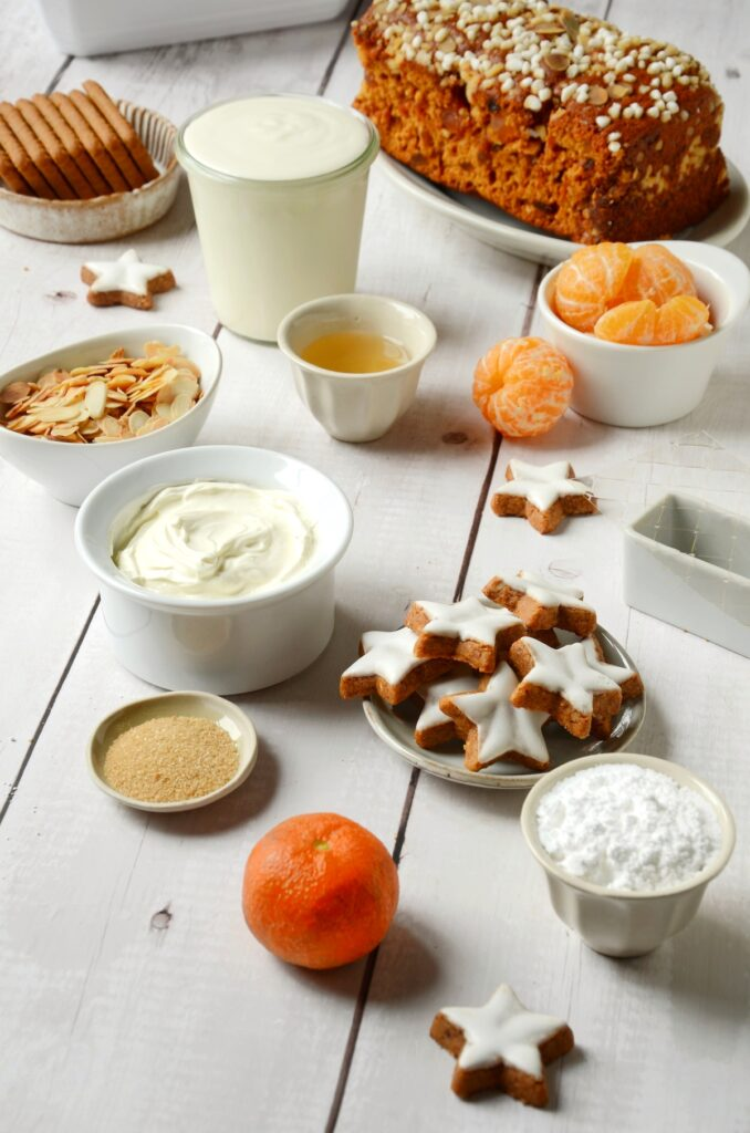 ingrédient recette dessert hiver épice agrume fruit saison