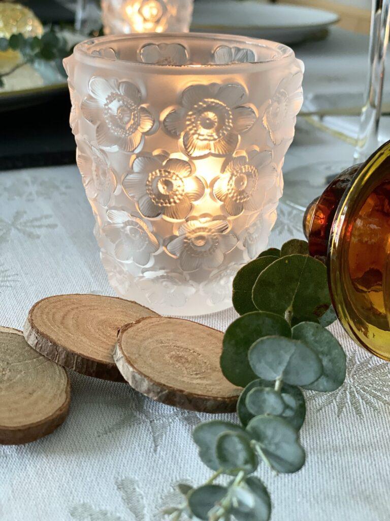 lalique photophore Anémones en cristal traditionnel idée cadeau fabrique en France