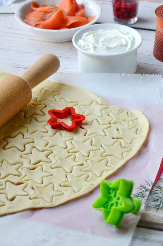 pâte à cracker fête forme étoile ingrédient facile