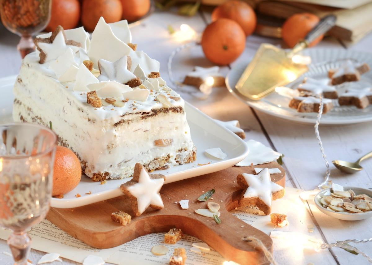 recette bûche de Noël clémentine pain d'épices réveillon