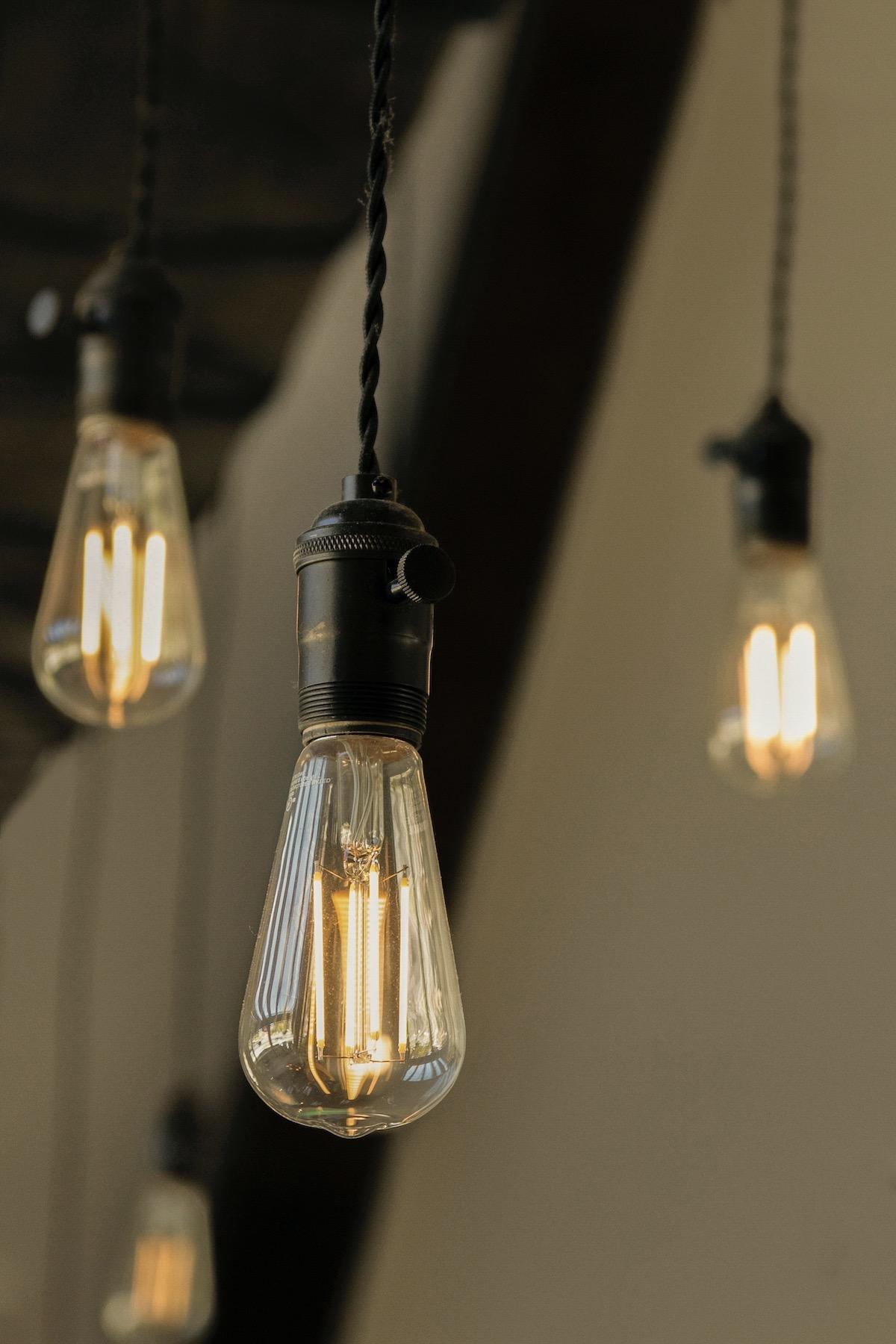 ampoule vintage retro led filament décoration indus