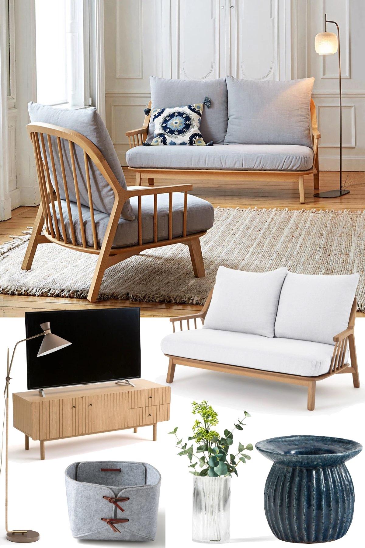 inspiration aménagement salon design minimaliste moderne intemporel