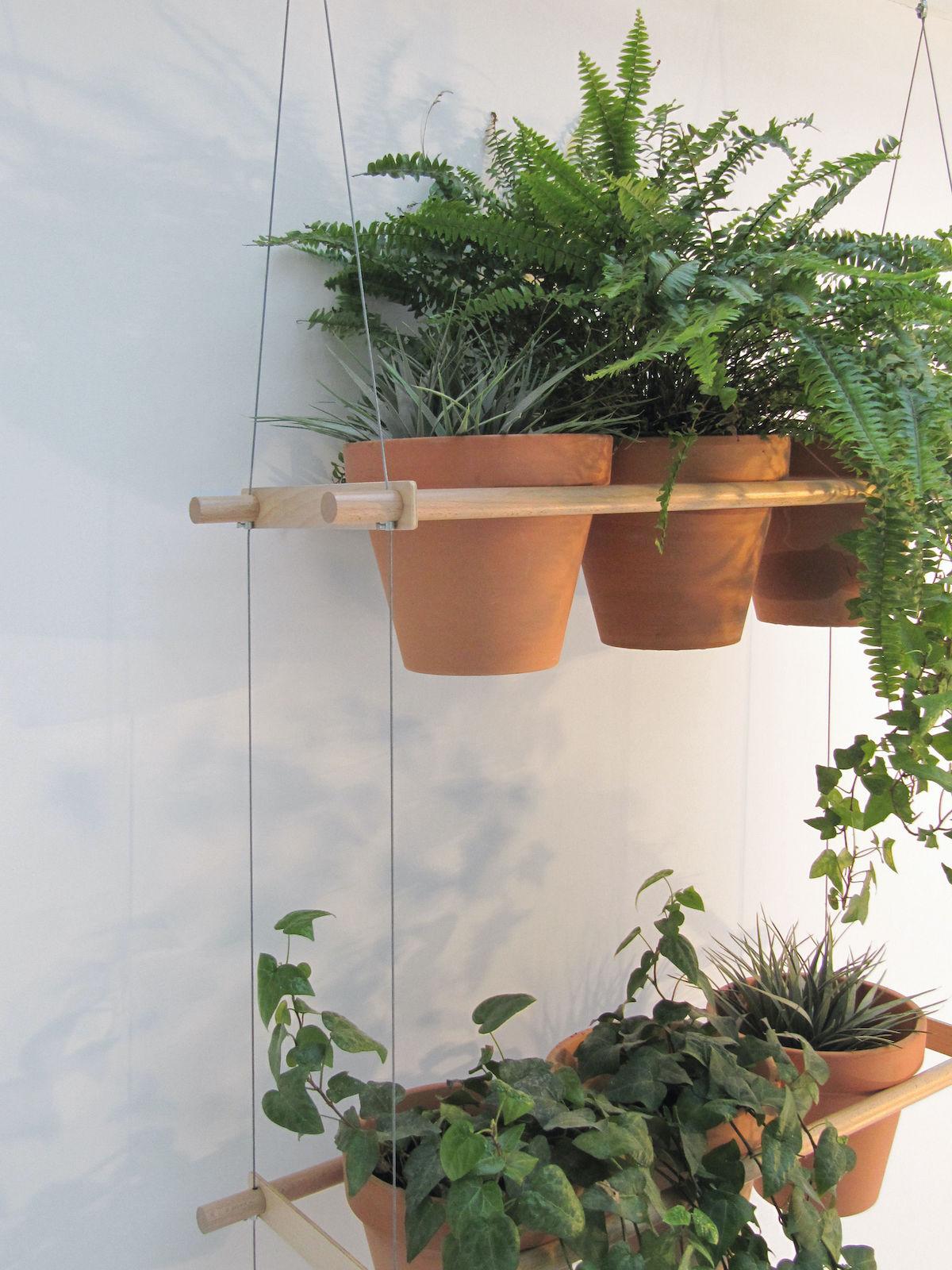 jardinière suspendue etcetera bois terre cuite cloison jardin balcon déco