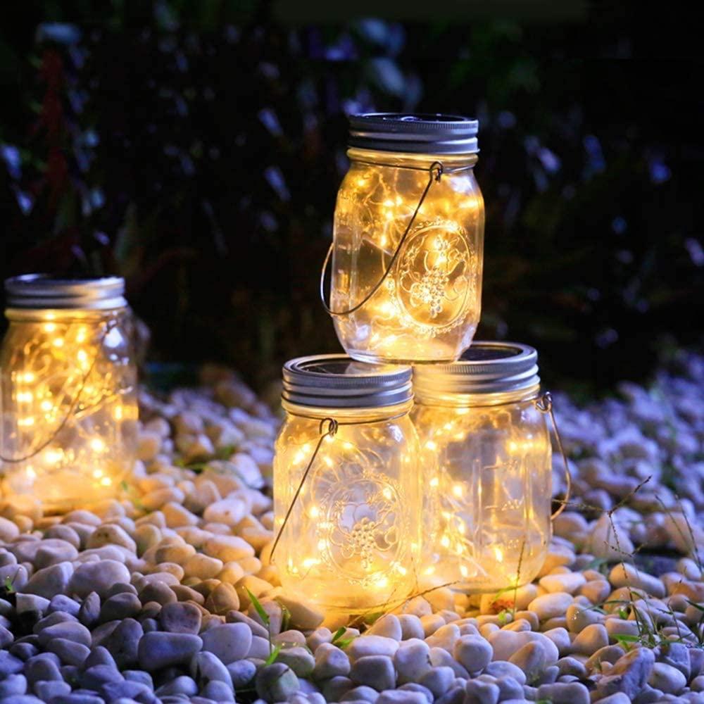 lanterne boîte conserve ball mason jar verre solaire extérieur
