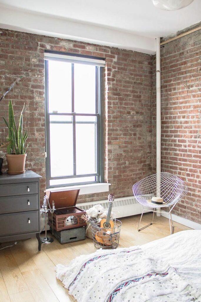 loft style indus brooklyn chambre ouverte salon
