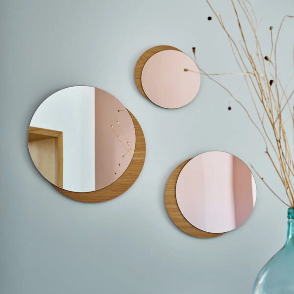 miroir mural bois chambre ado trio mon année made in France idée cadeau
