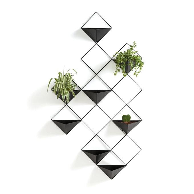 pot succulente graphique mural noir triangle losange pele mêle