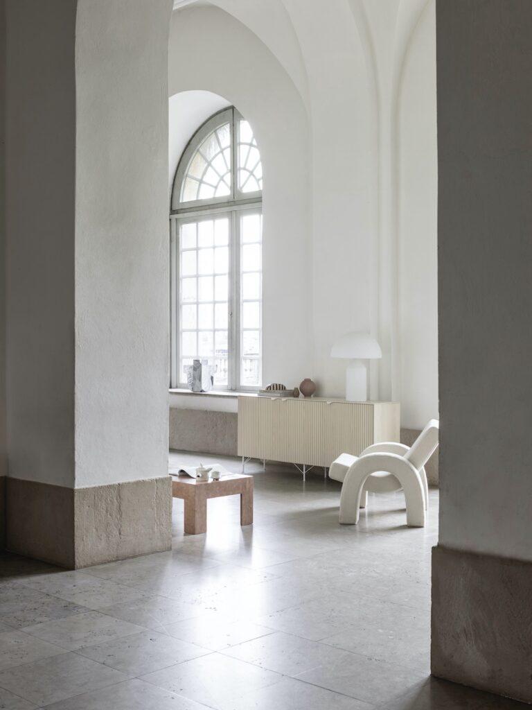 salon minimaliste nuance beige couleur lin design