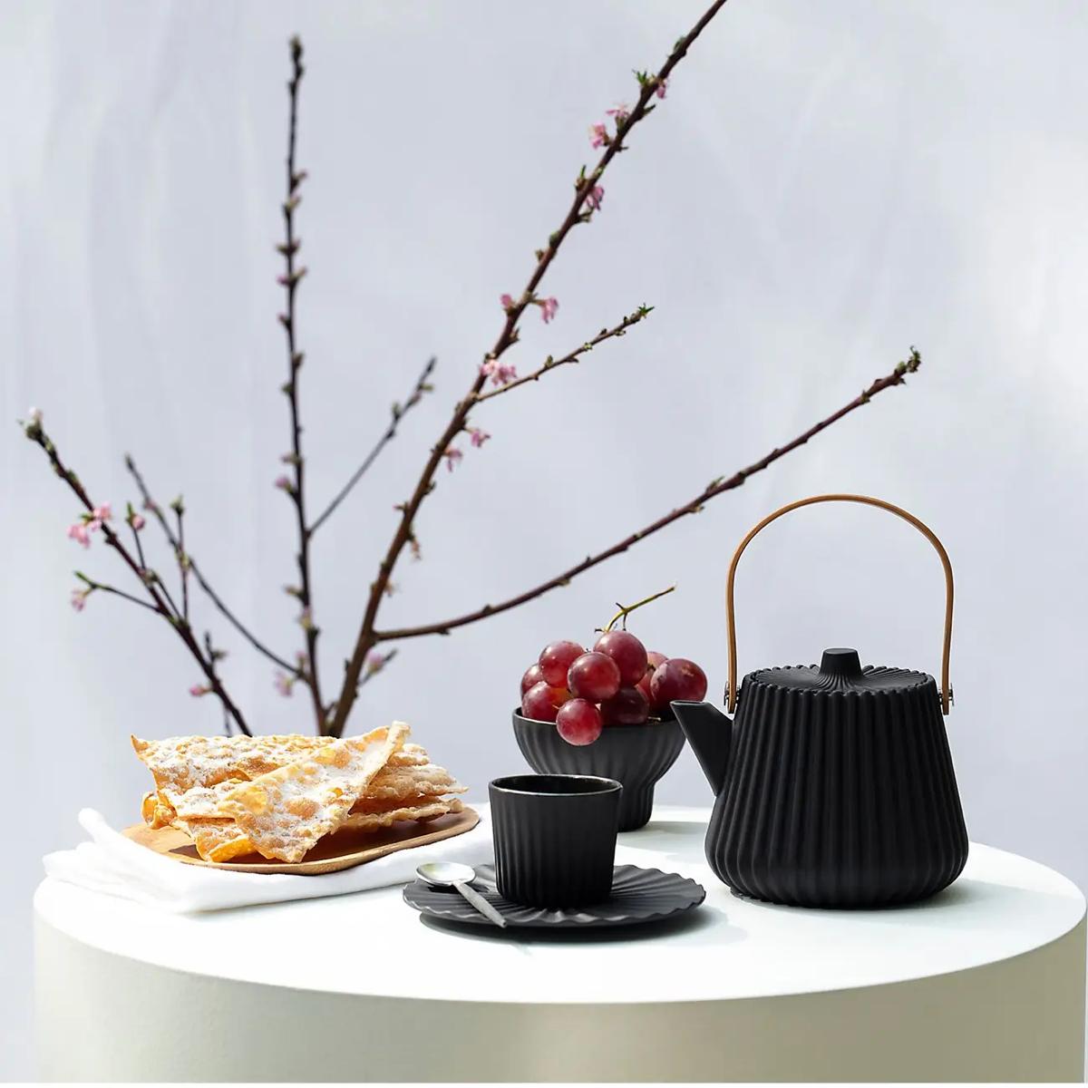 set thé théière japonisante fabriqué en France origami déco