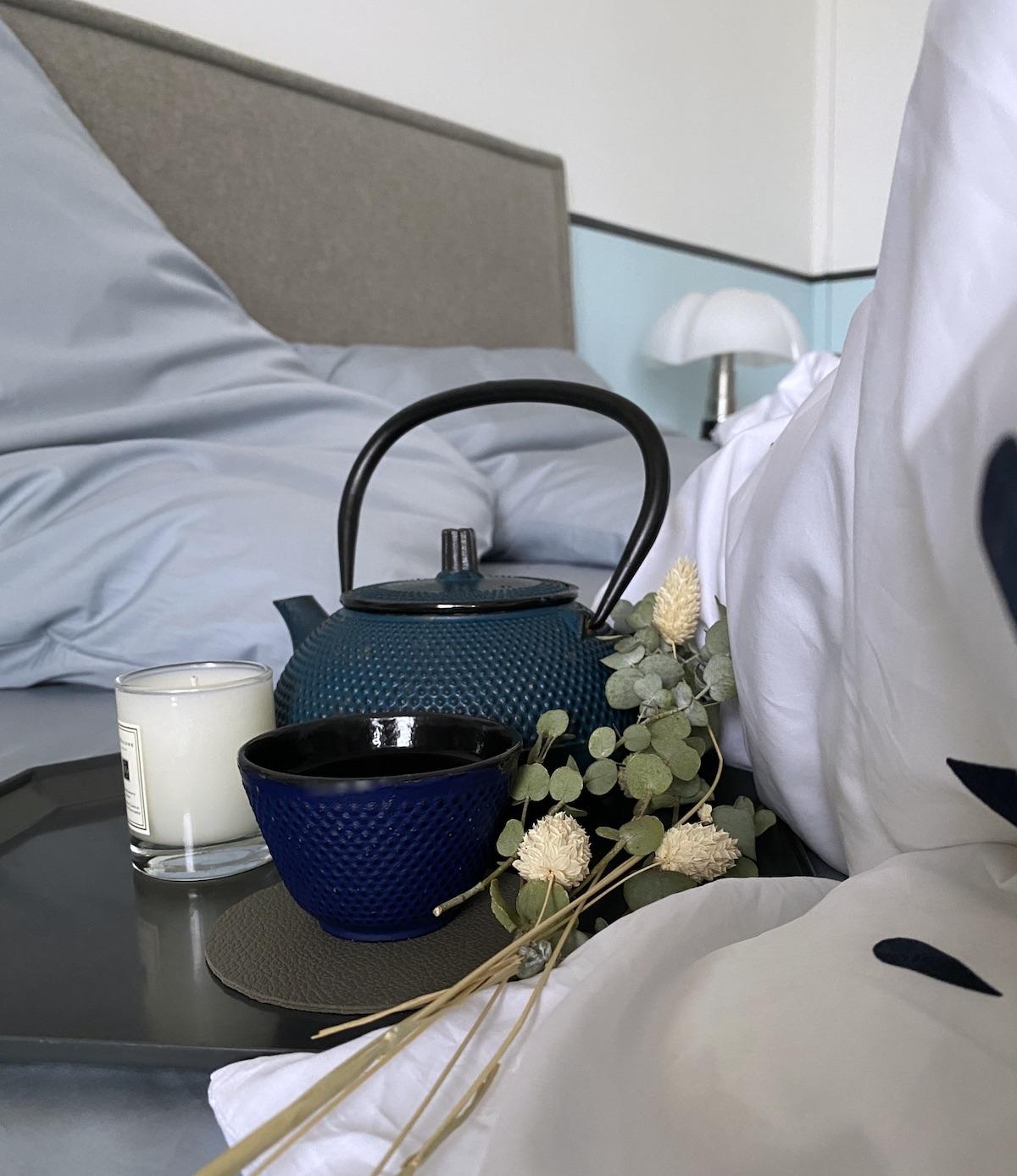 slow living chambre moment cocooning drap coton biologique fabriqué en France