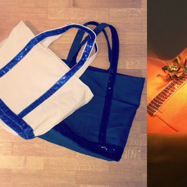 tutoriel couture gratuit template sac cabas plage Vanessa bruno tissu sequin - blog diy