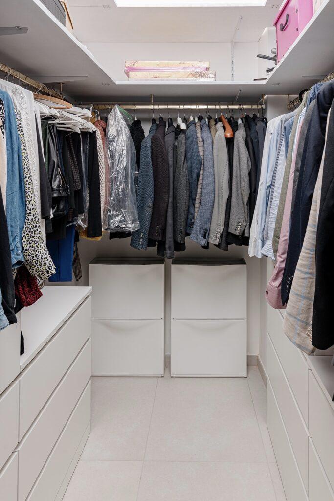 appartement 90m2 Naples installer mini dressing suite parentale