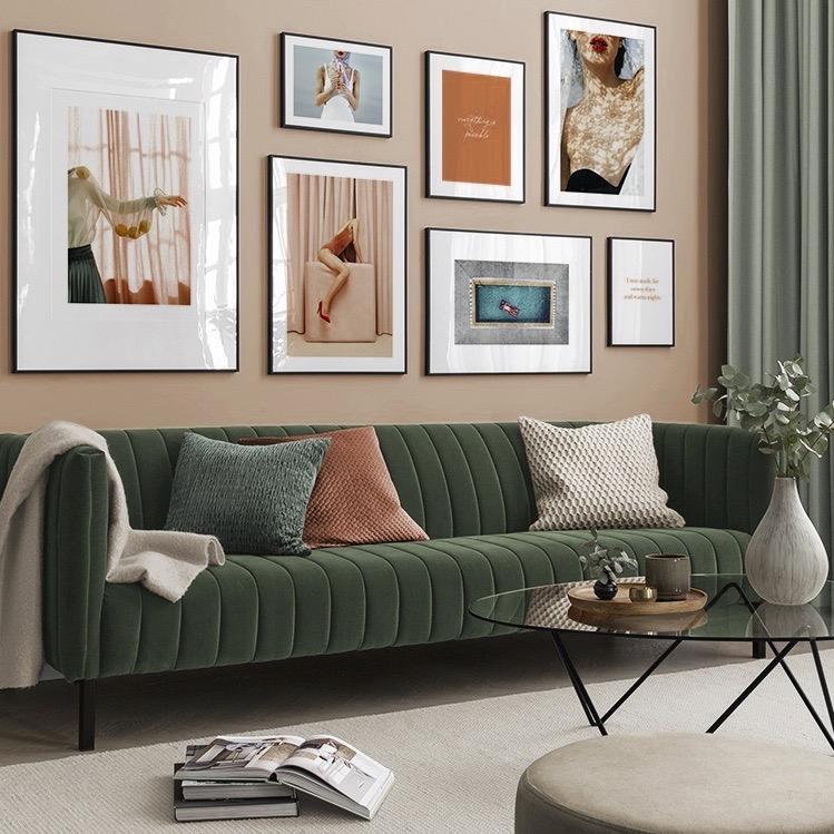 assortir couleur vert orange salon - blog déco