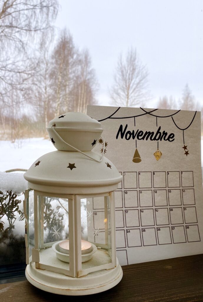 calendrier 2021 diy bullet journal novembre