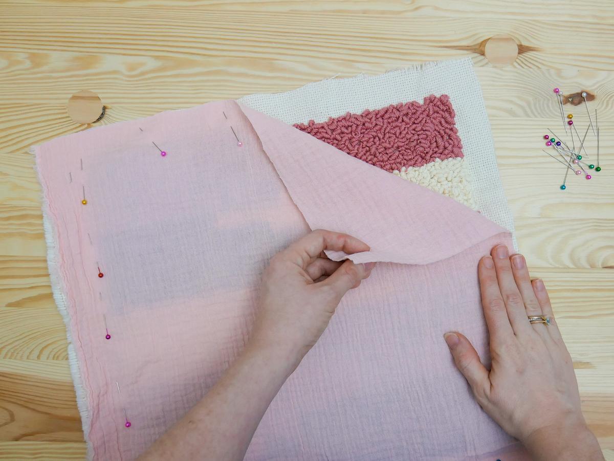 comment coudre décoration gaze coton chambre bébé
