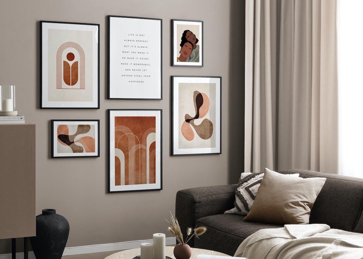 comment créer mur terracotta affiche poster
