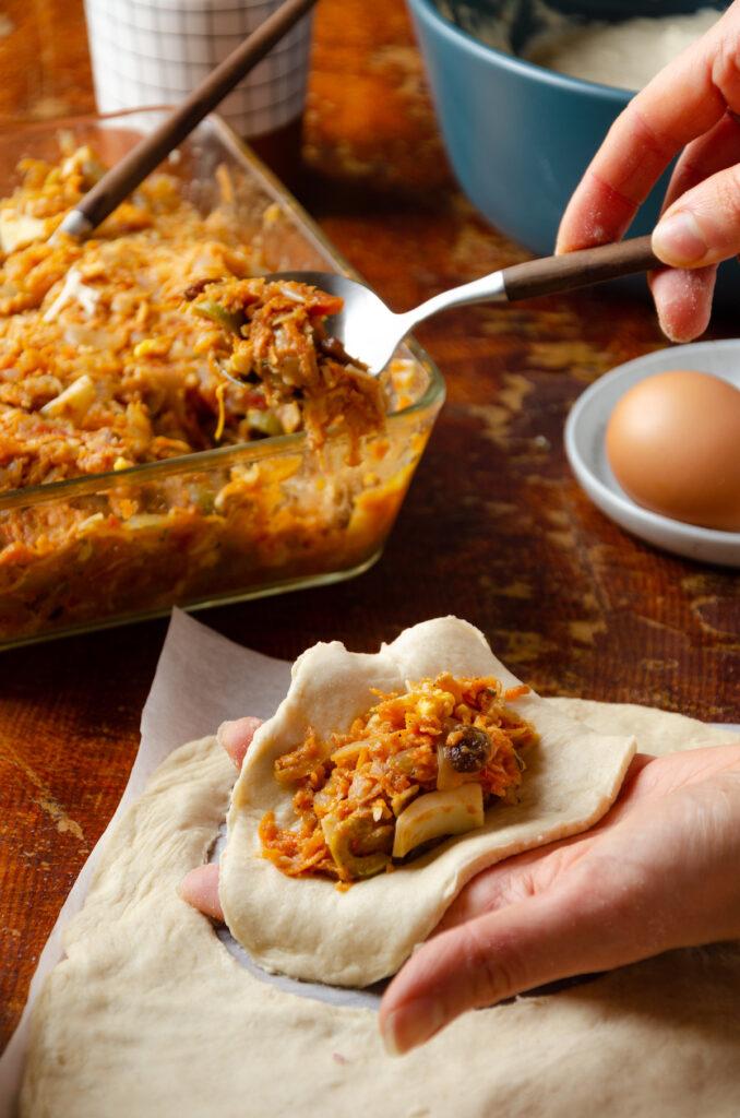 comment réaliser cuisine empanadas végétarienne légume fromage