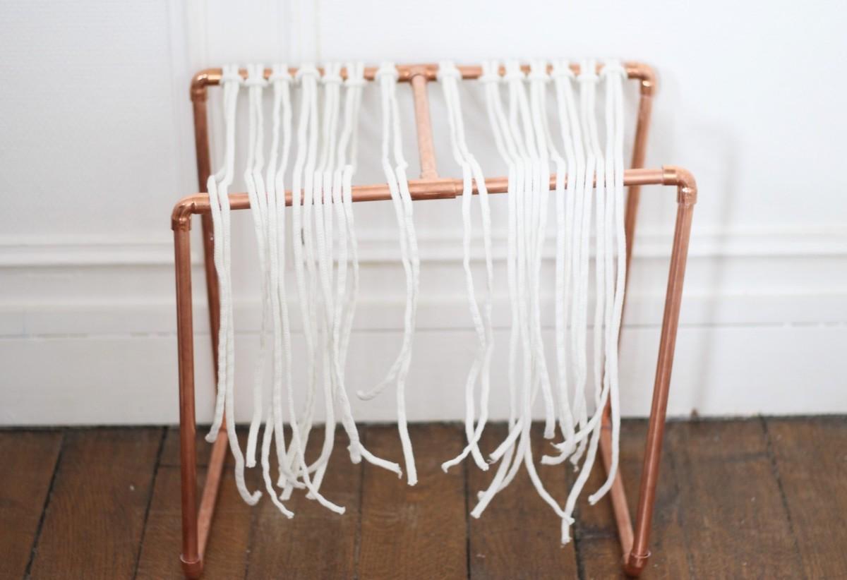 comment réaliser tissage noeud plat cordelette