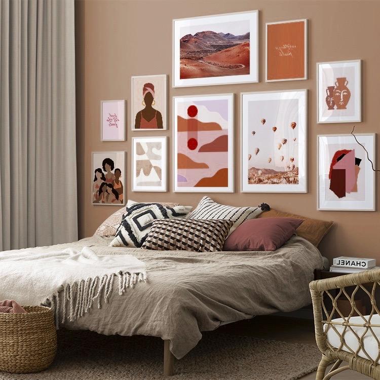 créer intérieur camaieu rose rouge chambre