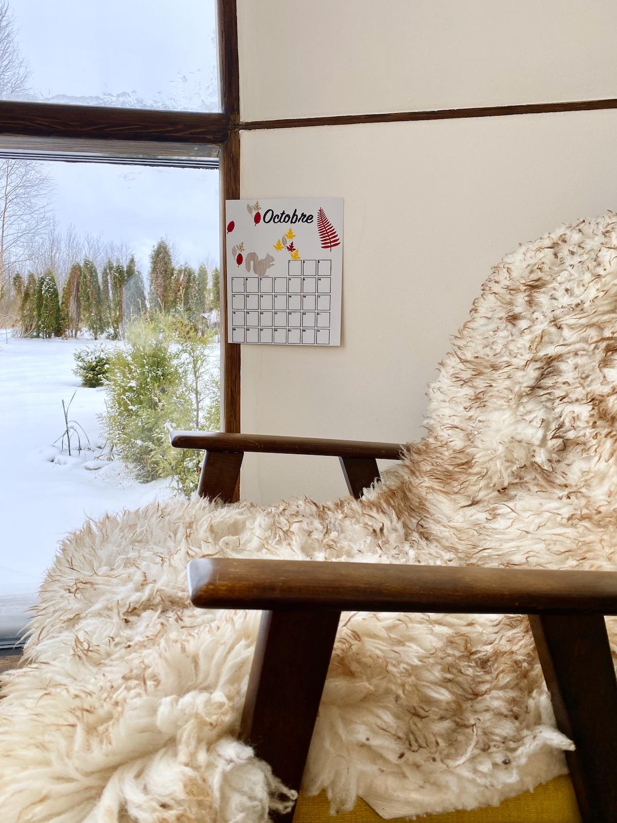 décoration automne cosy hygge fauteuil retro scandinave