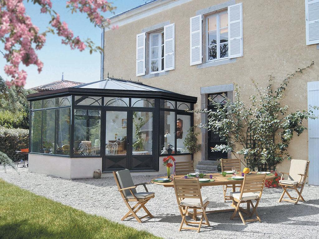 extension maison ancienne ronde style hexagonal blog décoration architecture