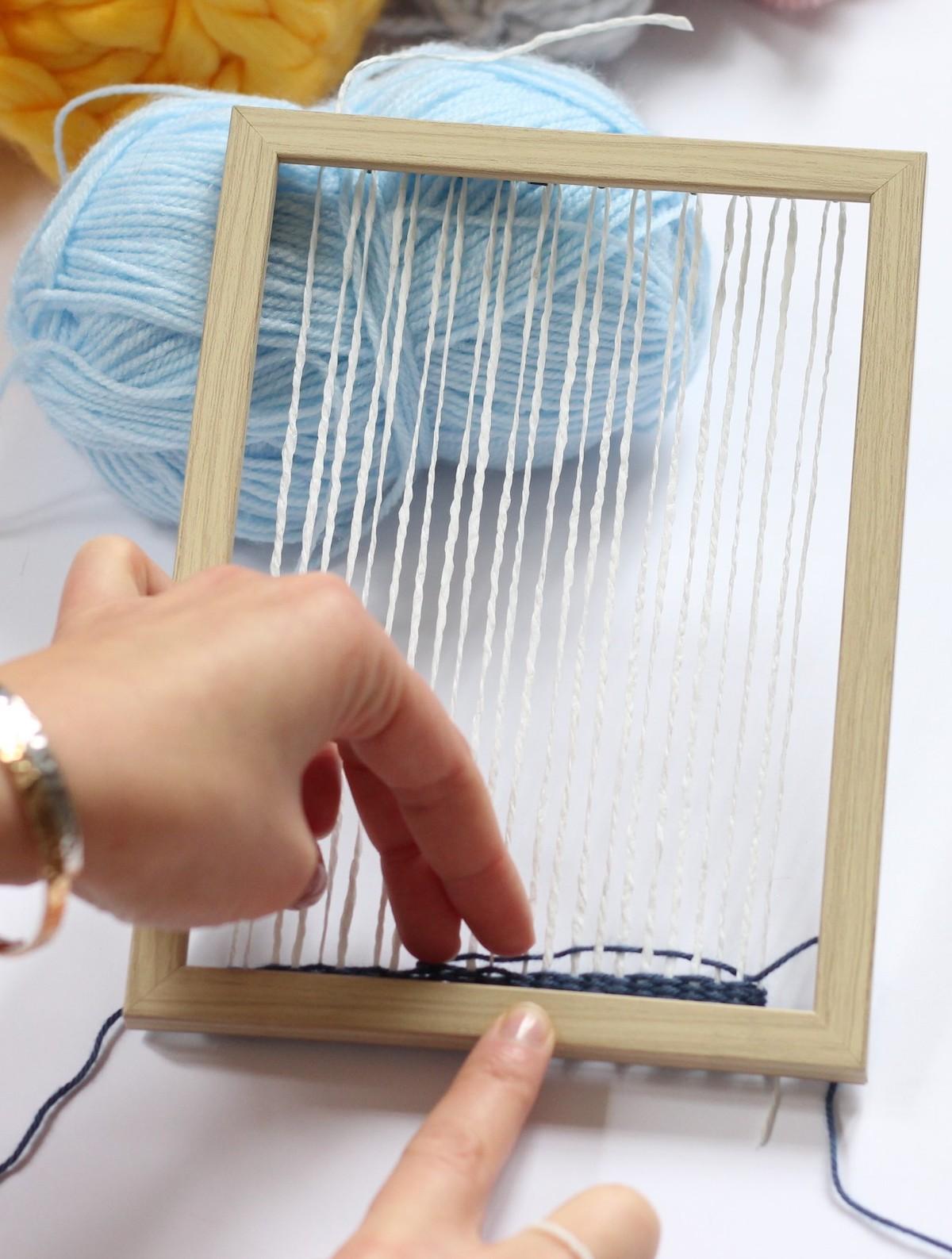 fabriquer cadre à tisser laine facile idée diy
