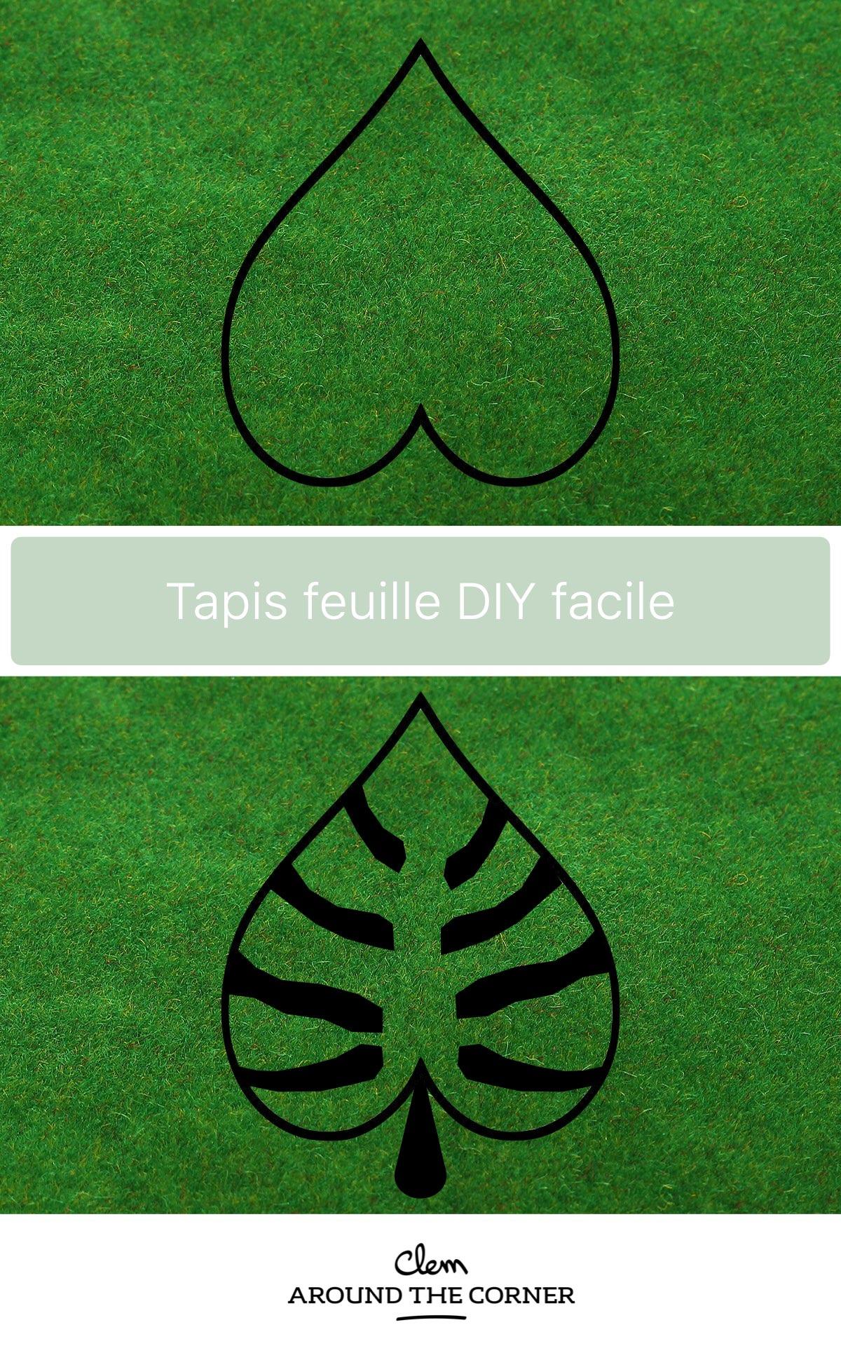 fabriquer découper tapis feuille moquette original - blog déco clemaroundthecorner