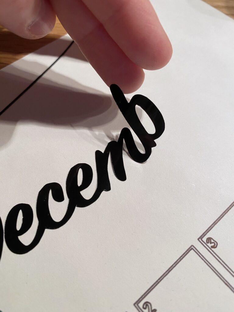idée personnalisation bullet journal mois décembre