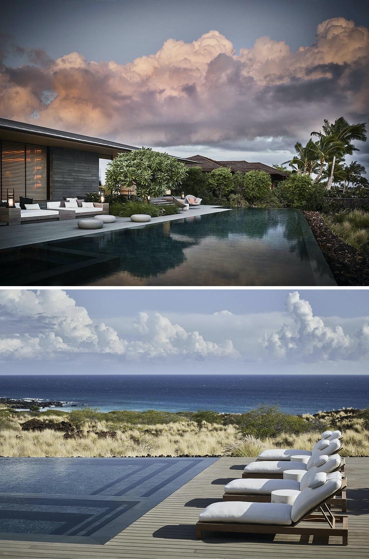 maison Kua Bay architecture nature sauvage Hawaï