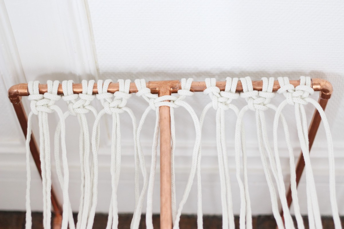 meuble original diy cuivre tuyaux plomberie