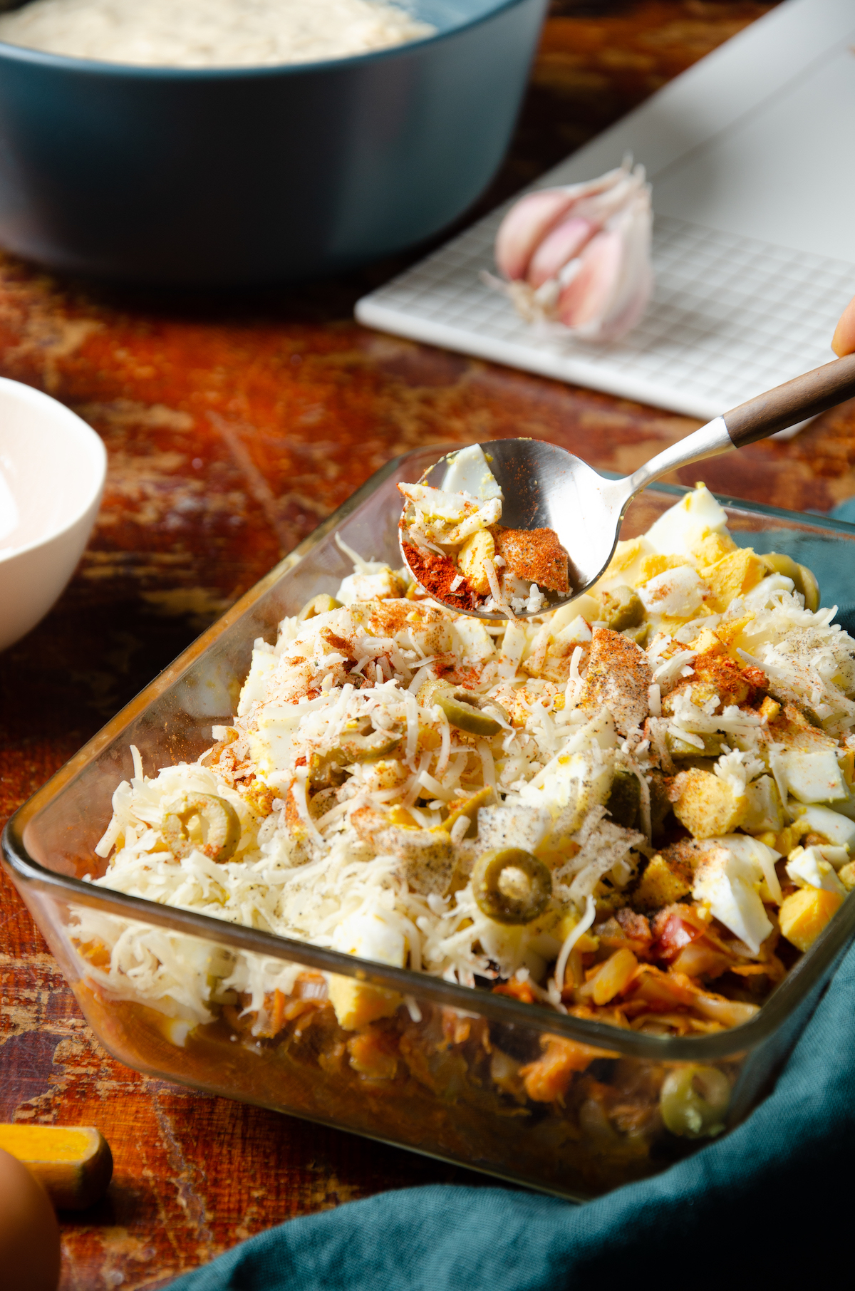 plat typique argentin Amérique du Sud fromage patate olive