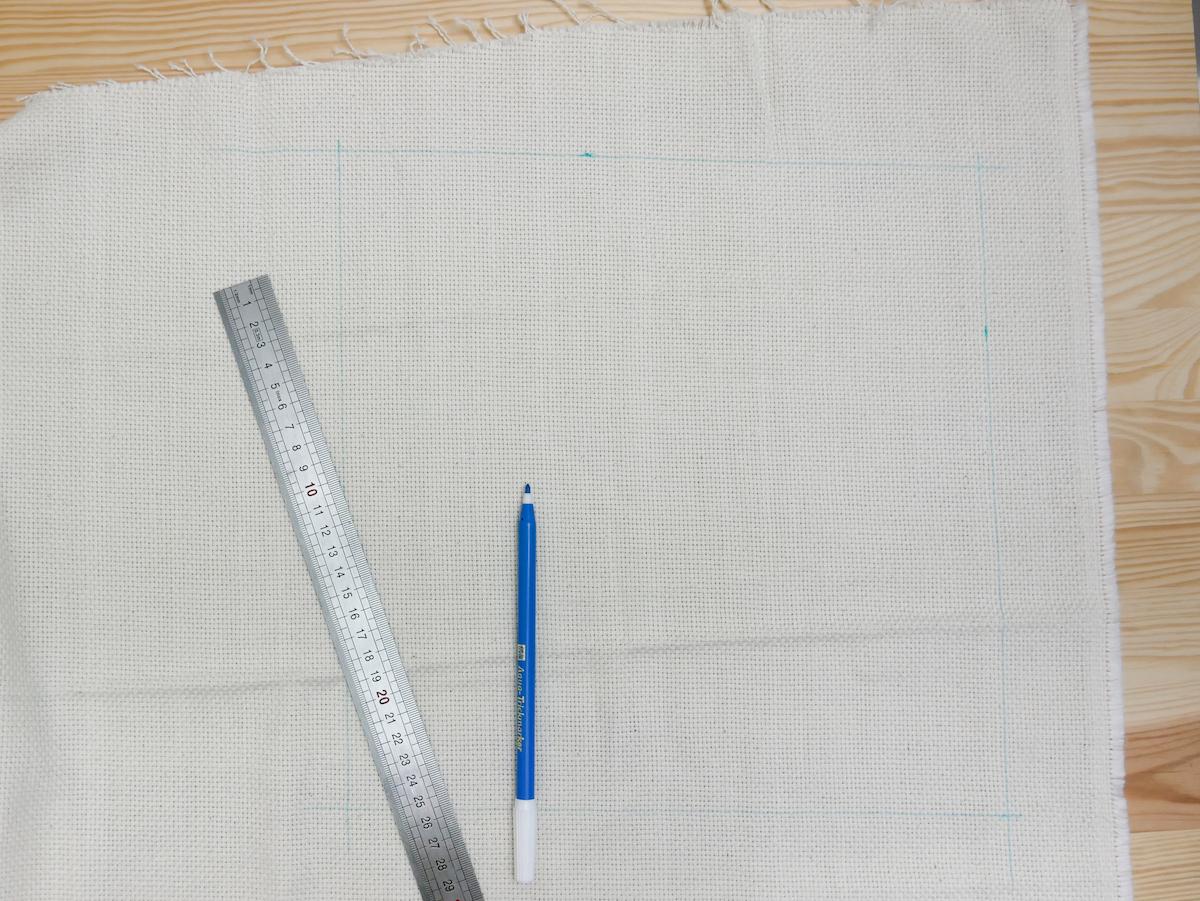 préparer travail manuel couture broderie tracé crayon