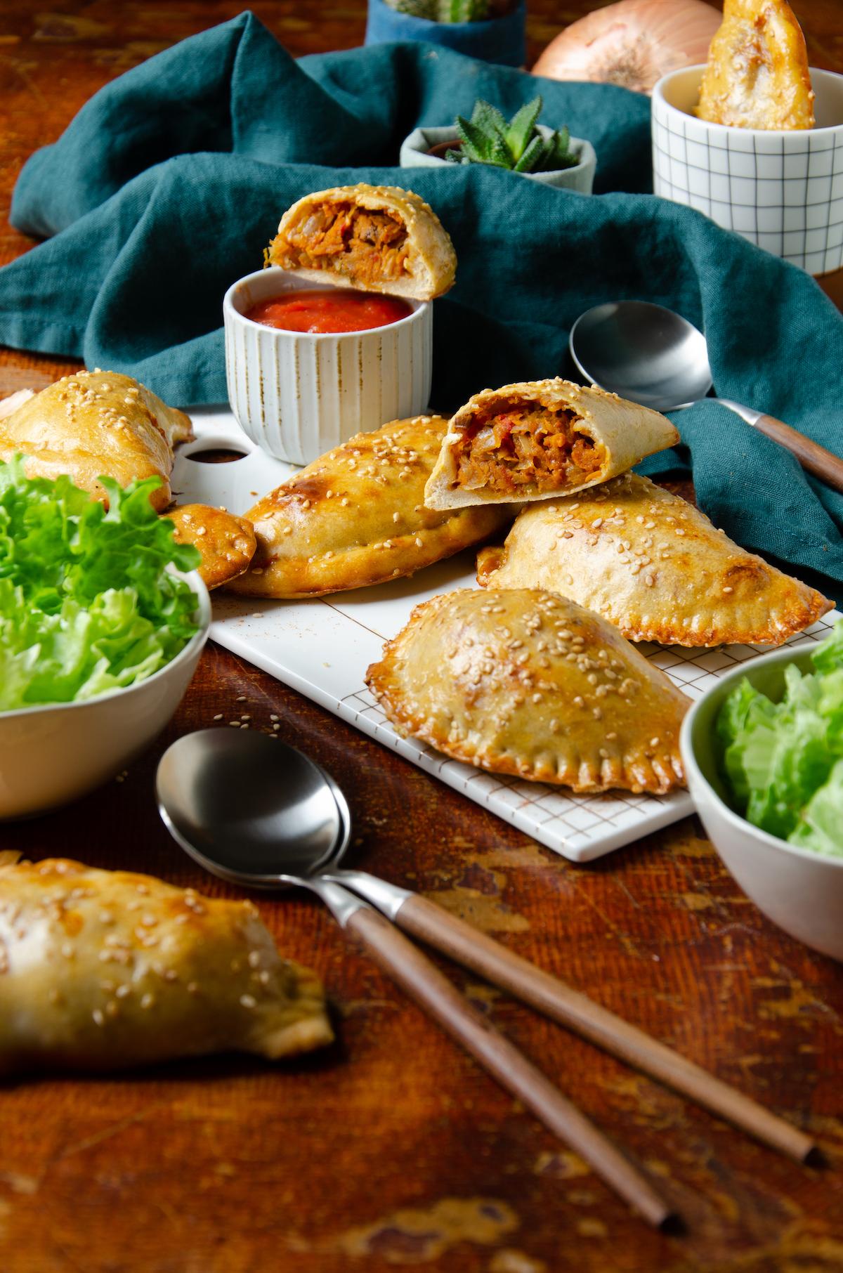 recette empanadas végétarienne patate douce fromage