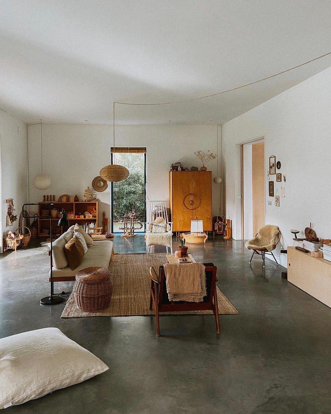 salon bohème wabi sabi vintage rotin minimaliste - blog décoration - clem aroundthecorner